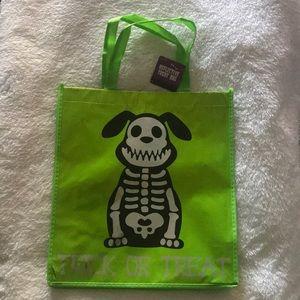 adorable lime green Halloween dog tote/treat bag🎃